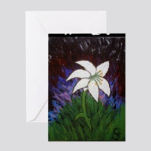 White Lily Shirt Greeting Card